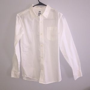 Old Navy Long Sleeve White Button Down
